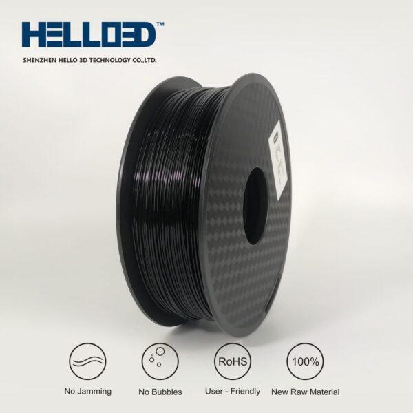 HELLO3D 3D Printer Filament - 1.75mm - Black - 1Kg
